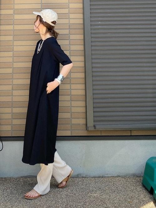miho����ニコさんのその他パンツ「カットリブパンツ(LOWRYS FARM|ローリーズファーム)」を使ったコーディネート