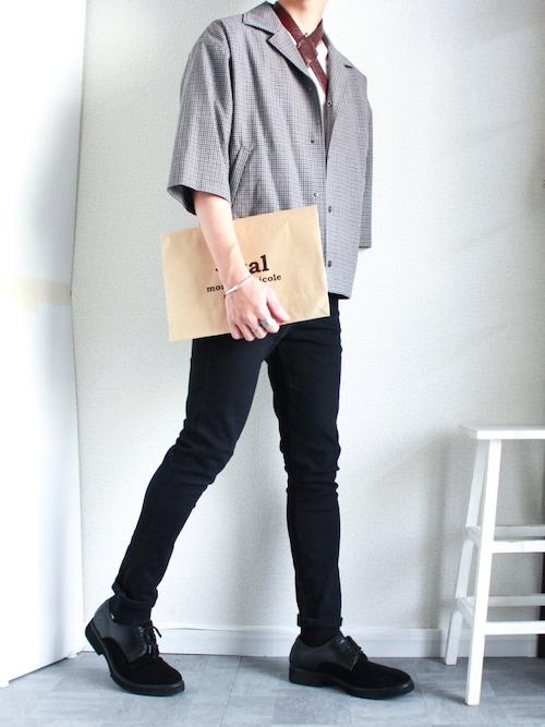 shogo🔱さんの「サマートロハーフスリーブオープンカラーコーチ開襟シャツジャケット(PUBLIC TOKYO)」を使ったコーディネート