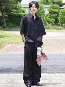 シャツ 黒 黒シャツ・ブラックシャツ・メンズ